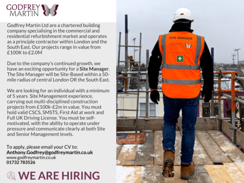 WE ARE HIRING A SITE MANAGER
