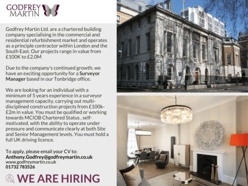 WE ARE HIRING A SURVEYOR MANAGER