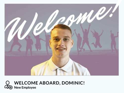 WELCOME ABOARD, DOMINIC!