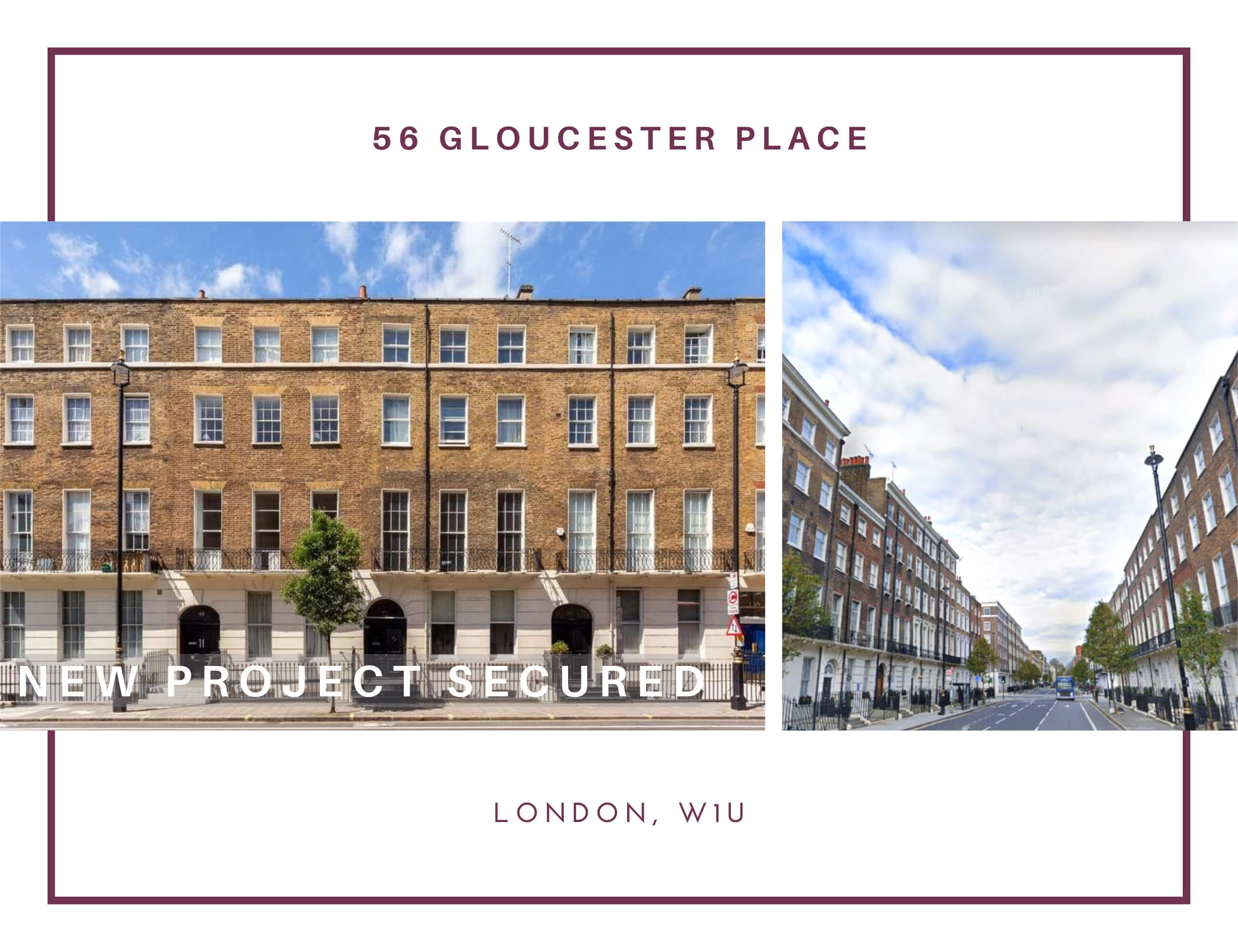 REMEDIAL REFURBISHMENT AND DECORATION AT 56 GLOUCESTER PLACE